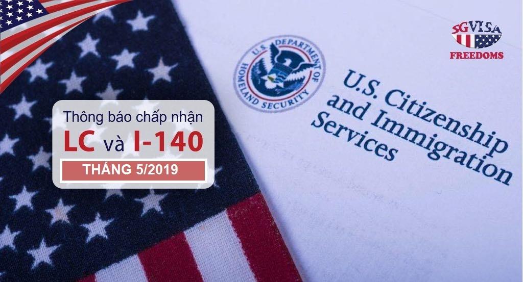 Khách hàng chấp thuận LC và USCIS tháng 05/2019